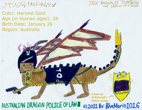 Police Dragon: Judge Rainald by BlueMario1016
