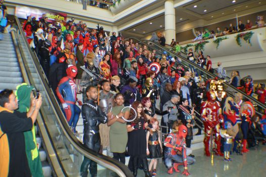 Avengers Group Photo at MegaCon 2018 by R-Legend