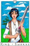 Barefoot Tarot - Sword King by SparrowsHellcat