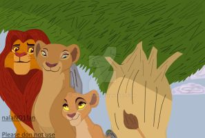 Simba, Nala and Kiara by nalaNO1fan