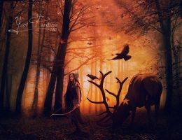 In the woods beyond the realm by YaelPardina