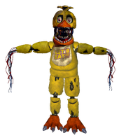 Withered Chica full body *request* by JoltGametravel