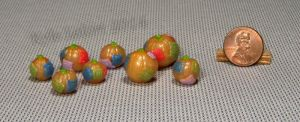 Mini Translucent Sparkly Pumpkins with Patches by Kyle-Lefort