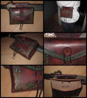 Belt bag carved 1 by akinra-workshop