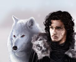 Jon Snow by CARFillustration