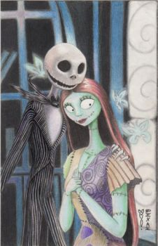 Jack and Sally Original Art by DenaeFrazierStudios