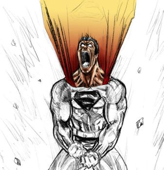 superman really going nuts by mikemaluk
