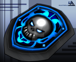 skull shield 3d by Elcruellfable