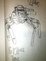Spider tank concept  by metaldemonx111