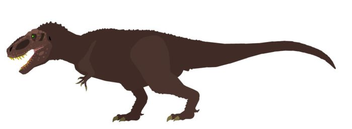 New Tyrannosaurus rex stk(Improved) by Dinomorph5000