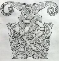 Viking and Oseberg influenced knotwork design by Tattoo-Design