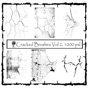 Twisted Mind cracked brushes Vol 2 by Textures-and-More