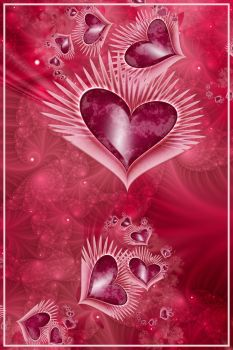 Girly Pink Hearts by KirstenStar