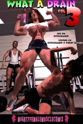 WHAT A DRAIN Vol3 Sample 1 MightyFemaleMuscleComix by zenx007