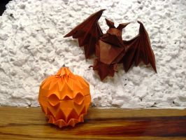 Origami Halloween by Orestigami