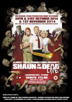 Shaun of the Dead, live production publicity poste by Tripehound