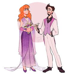 Pepperony wedding outfits - Pepper and Tony by spidertams