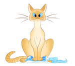 Toothpaste and Orange Cat by HyraxAttax
