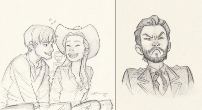 Westworld sketches by CaptBexx