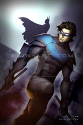 Nightwing and Batman by LorBot