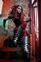 Black and Red Cybergoth by mysteria-violent
