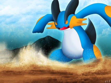 Swampert - Muddy water by ShenWooo