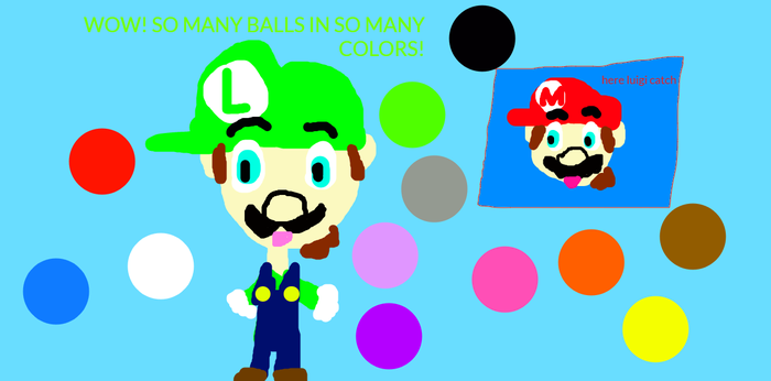 Luigi in the ball pit learn color for kids by SuperSmashLexi