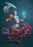 CDC - The Merman and the Fork by LauraBevon