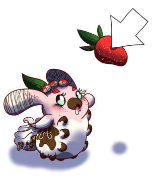 Strawberry, Want the Strawberry! by Candy-waterfalls