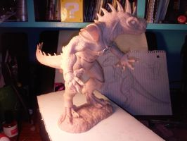 King Alcadrios Commission Sculpture WIP by LycanthropeHeart