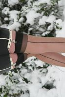 Seamed Stockings in the Snow by Ange1ica