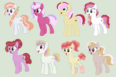 Quadruple ship adoptables OPEN 4/8 by TheWritingHippo