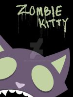 zombie kitty by messypink