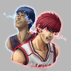 Kagami and Aomine Fan Art by Hector-Monegro