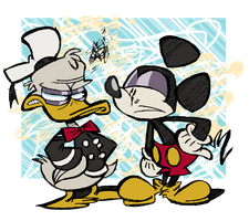 Who do you prefer, Mickey or Donald? by EeyorbStudios