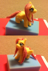 Felted Fluttershy by doux-merise