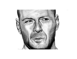 Bruce Willis by NorthumbrianArtist