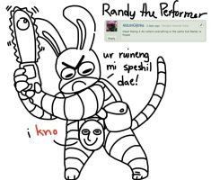 randy the performer by AndroiDoodler