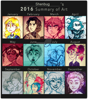 2016 Art Summary by Shenbug