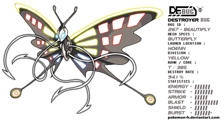 DeBUG 267 - Beautifly by Pokemon-FR