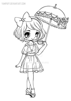 Umbrellagirl Lineart by YamPuff