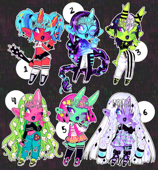 closed - Oni Girls Auction by Kariosa-Adopts