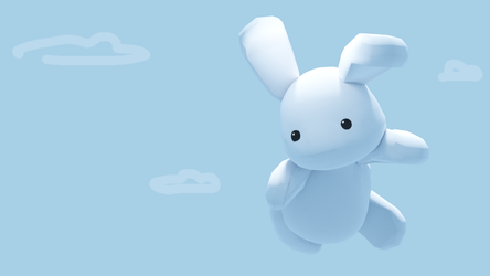 Flying bunny by 0x0539