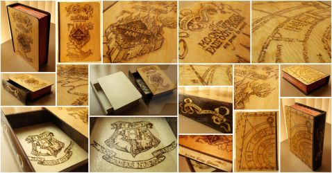 Harry Potter Wooden Box - Pyrography