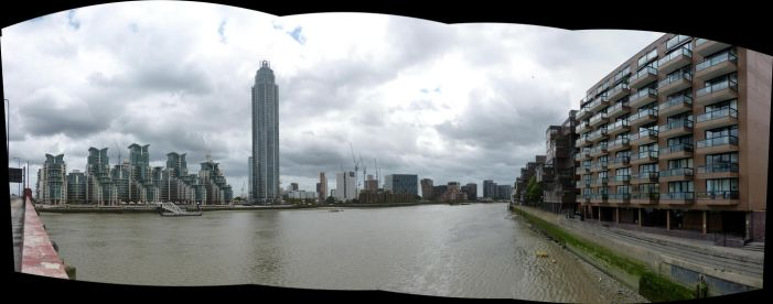 Upstream from Vauxhall Bridge, London by coshipi