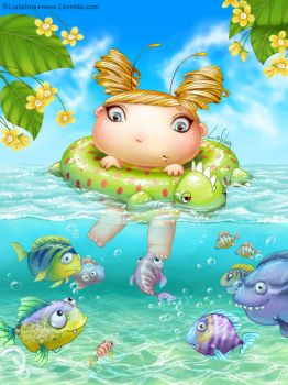 Swimming Fairy-Bug by LiaSelina