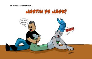 Justin vs One-Eyed Jack by project4studios