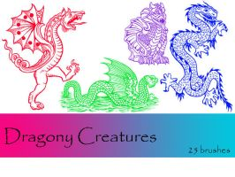 Dragony Creatures by TD-Brushes