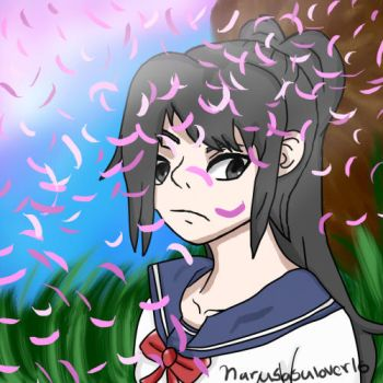 Yandare-chan Under Cherry Blossom Tree by narusasulover16