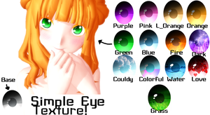 [MMD] Simple Eye Textures! [+Download] by Cutie-P